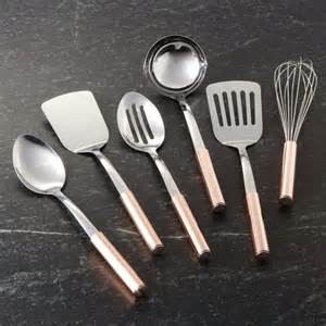modular kitchen furniture utensils with copper handles crate and barrel