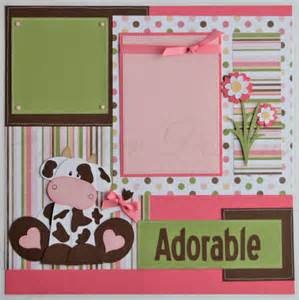 8x8 scrapbook album scrapbook pages udderly adorable baby girl cows 12x12