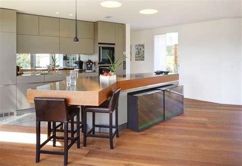 cuisine design avec ilot central cuisine avec ilot repas cuisine en image