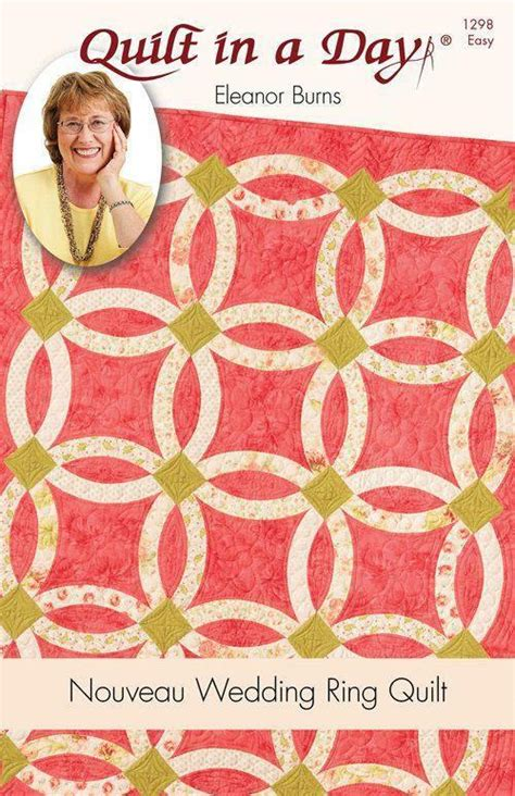 nouveau wedding ring pattern quilt in a day eleanor burns 1298 easy ebay