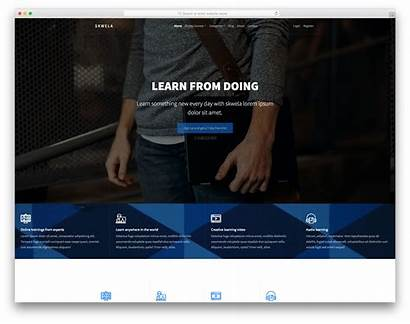 Template Skwela Website Templates Education College Bootstrap
