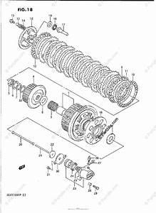 Suzuki Motorcycle 1988 Oem Parts Diagram For Clutch
