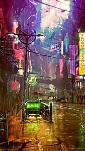 wallpaper futuristic cyberpunk future world 4k 20447