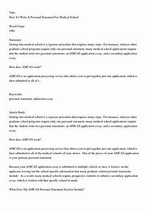 write my medical school personal statement form