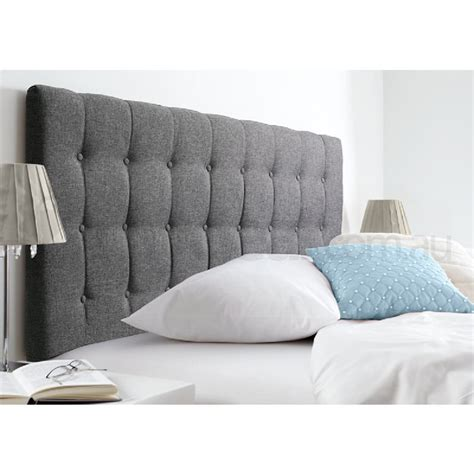 maddison space grey upholstered king headboard buy king