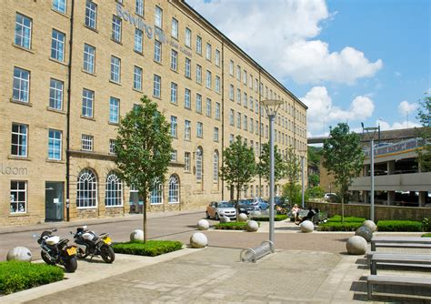 The Dean Clough Mill complex, Halifax, West Yorkshire ...