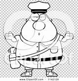Postal Worker Careless Mail Coloring Cartoon Shrugging Chubby Outlined Clipart Thoman Cory sketch template