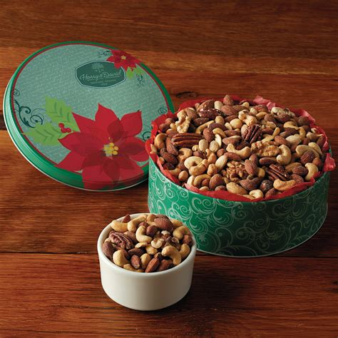 holiday mixed nuts gift tin gourmet nut gifts harry
