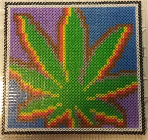 pot leaf perler beads perler pony bead projects