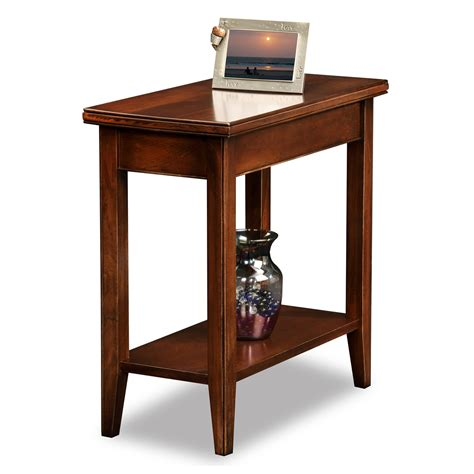 end tables for small spaces leick 10505 laurent narrow chairside end table atg stores