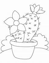 Cactus Coloring Pages Flower Printable Saguaro Sheets Drawing Plant Desert Flowers Painting Patterns Adult Bestcoloringpages Colored Quilt Colouring Embroidery Books sketch template