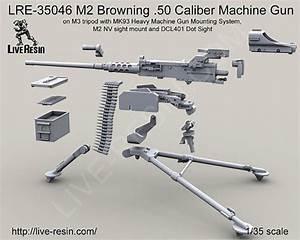 M2 Browning .50 Caliber Machine Gun on M3 tripod with MK93 ...
