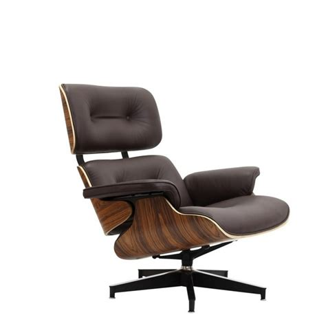 Wood And Leather Chair With Ottoman by Eames Style Lounge Chair And Ottoman Brown Leather Walnut Wood