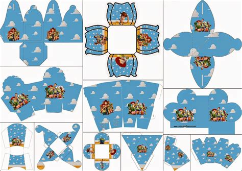 Toy Story Party Bag Template by Toy Story 3 Free Printable Boxes Oh My Fiesta In English
