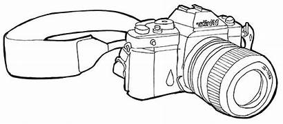 Camera Coloring Pages Various Types Edition Credit