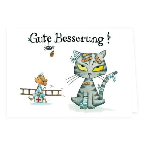 klappkarte mit katze gute besserung
