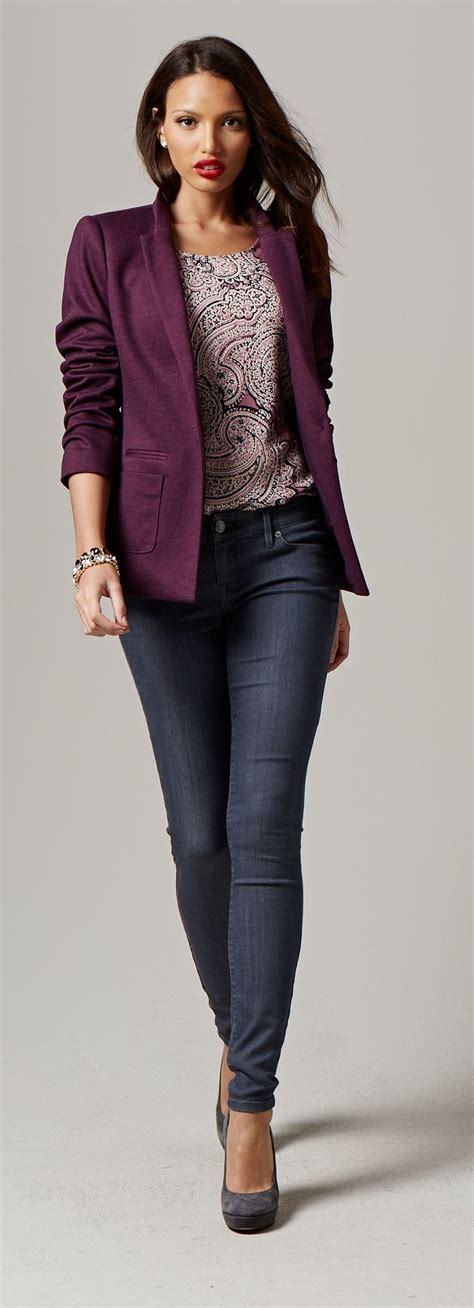 25+ best ideas about Plum pants outfit on Pinterest | Plum pants Purple skinny pants and Plum jeans