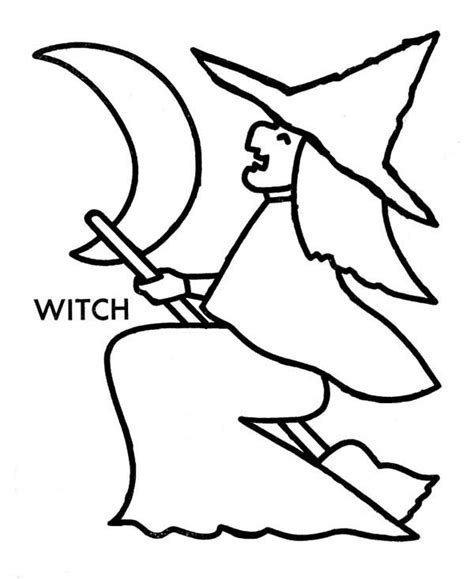 witch template witch printable coloring pages