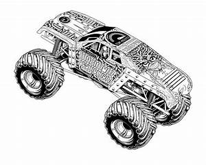 Monster Truck Coloring Pages monster truck coloring pages ...