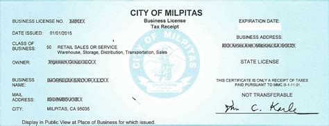 business license center city of milpitas 848 | blsample
