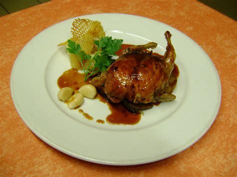cours de cuisine chef étoilé caille désossée rôtie au foie gras de canard du périgord