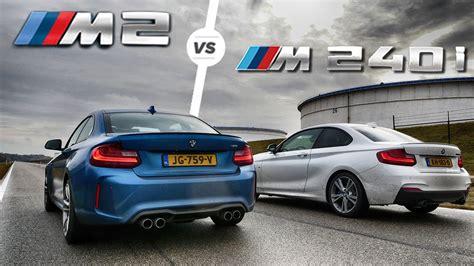Bmw M240i Vs M2 bmw m2 vs m240i acceleration sound drag race by