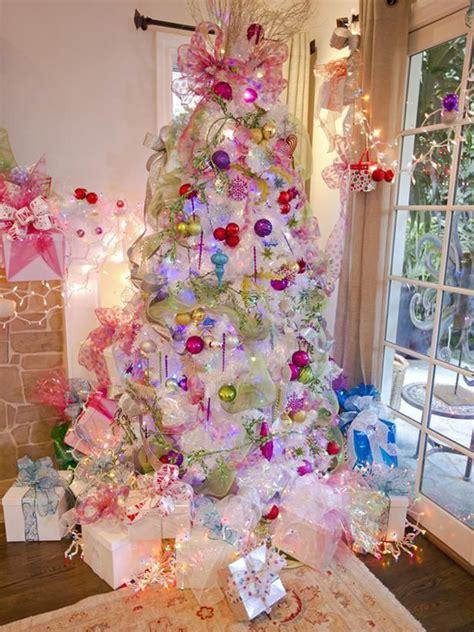 beautiful pink christmas trees homemydesign