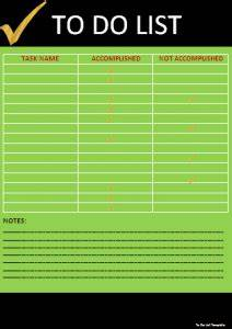 To Do List Template Professional Word Templates