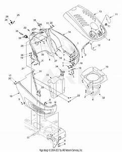Mtd 13at604g755  2004  Parts Diagram For Hood  Fuel Tank