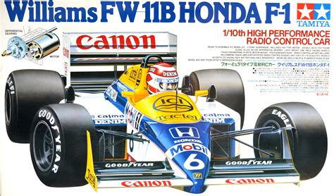 58069 Tamiya Williams Fw11b Honda F1 Model Racing Cars