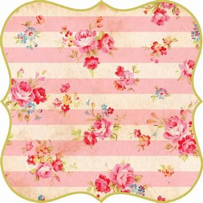 Tags Shabby Floral Printable Printables Fptfy Scrapbook