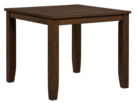 rectangular bar height table vintage sienna brown rectangular counter height table from