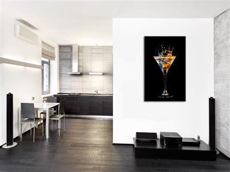 tableau de cuisine tableau mural verre de cocktail décoration cuisine hexoa