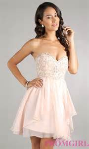 strapless short dave and johnny party dress promgirl