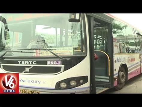 tsrtc runs   volvo bus services  shamshabad airport