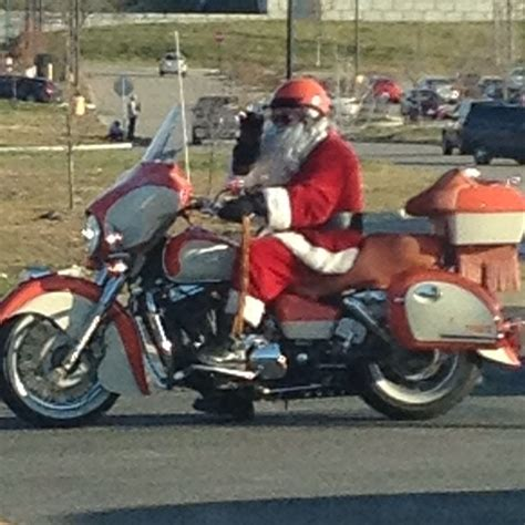 santa on motorcycle custom motorcycles pinterest