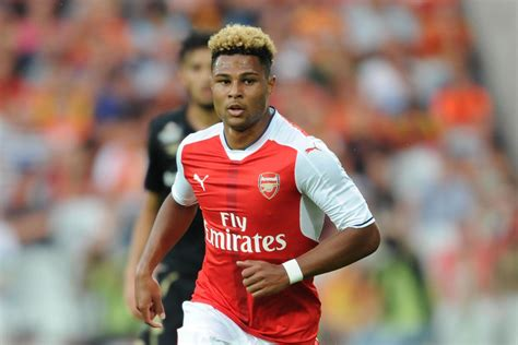 misfiring arsenal youngster serge gnabry   feet  bayern munich london evening
