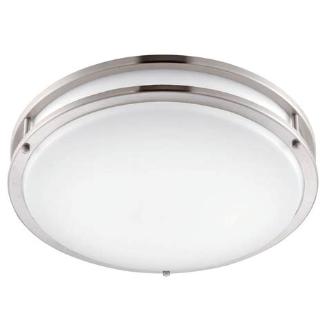 low profile led ceiling light envirolite 12 in brushed nickel white led ceiling low