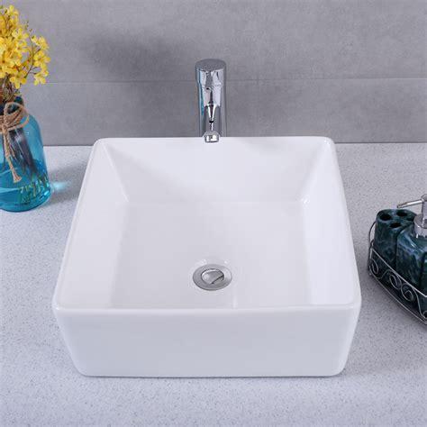 square vessel sink vanity square bathroom porcelain vessel vanity sink white ceramic