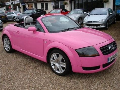 pink convertible cars audi tt convertible pink girly cars for female drivers