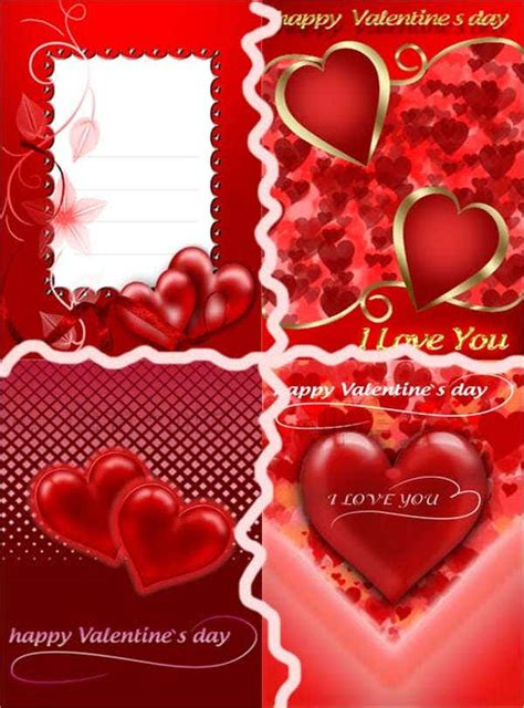 valentine cards   psd vector ai eps format