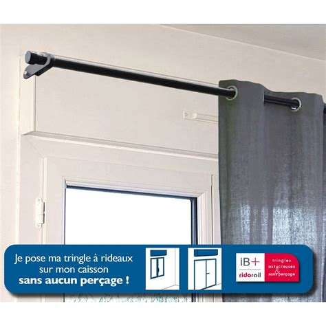 support sans per 231 age tringle 224 rideau ib 25 mm noir mat