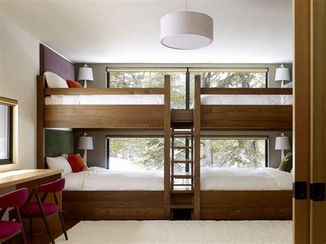 Queen-bunk-bed-kids-contemporary-with-area-rug-bedroom