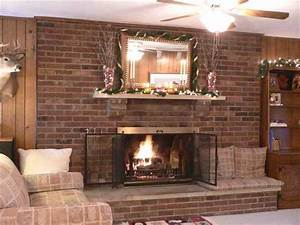 Decorating ideas for brick fireplace wall