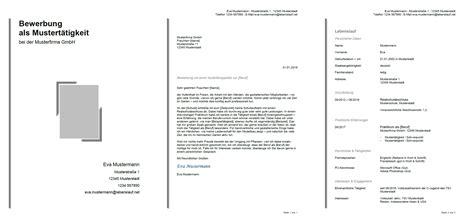 Bewerbung Formatvorlage by Bewerbung F 252 R Eine Ausbildung Schreiben Muster Tipps