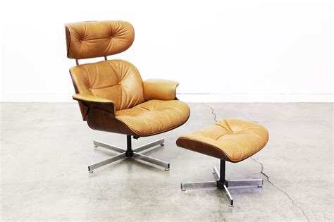 Vintage Eames Style Lounge Chair And Ottoman   Saomc.co