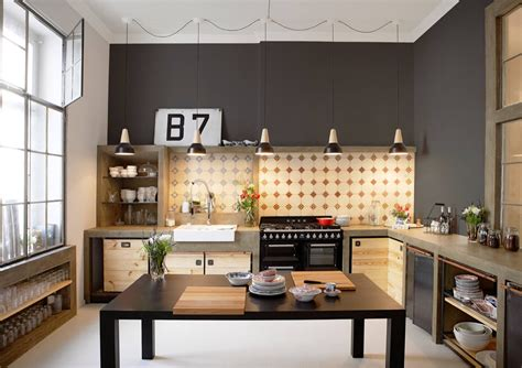 industrial style kitchens     fall  love