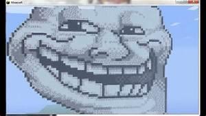Minecraft Troll Face Pixel Art YouTube