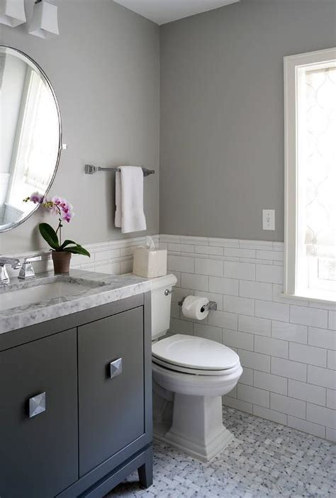 white  gray bathroom  black washstand