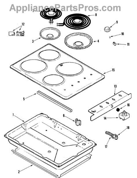 jenn air cooktop parts parts for jenn air jec7430aab cooktop complete parts